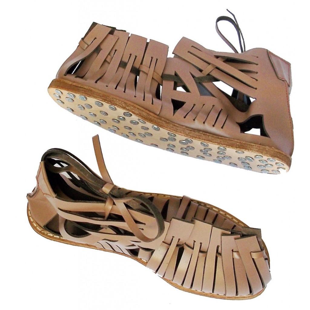 Medieval Roman Leather Caligae Sandals