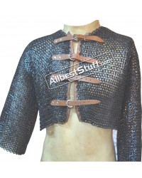 Half Chain Mail Shirt with Leather Fasteners