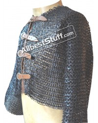 Side Photo of Half Chain Mail Shirt with Front Buckle
