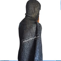 Integrated Coif on Chain Mail Hauberk