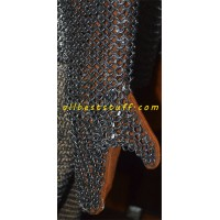 Chain Mail Mittens with Leather Palm