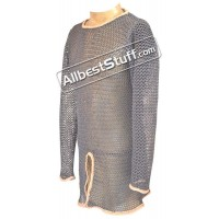 Aluminum Chain Mail with Leather Edging