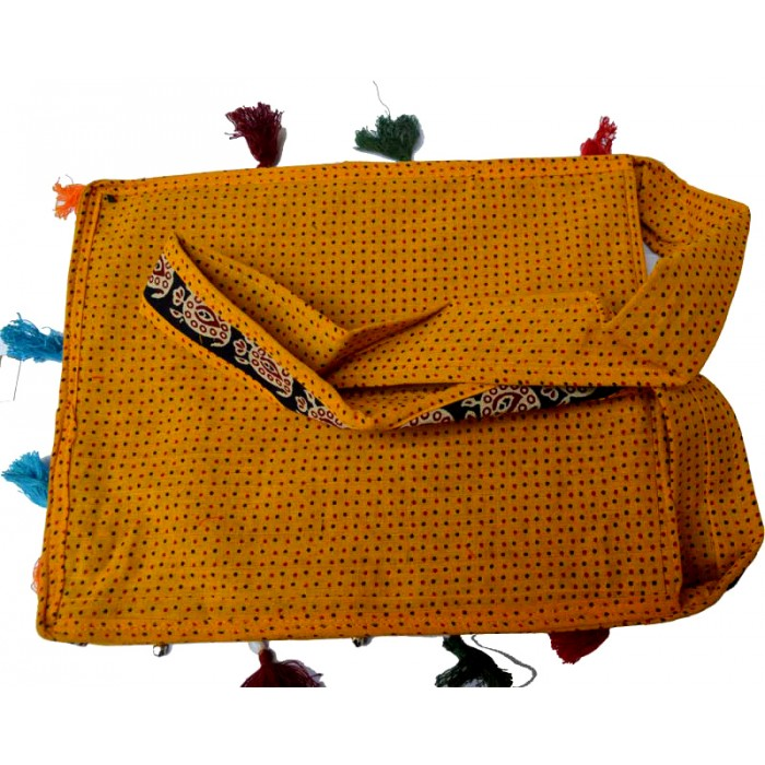 Cotton Embroidery Bag Yellow Color