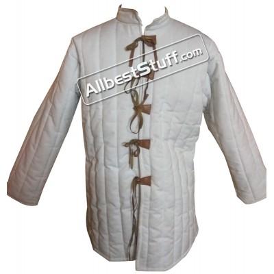 Cotton Gambeson Padded Armour Aketon Medieval Coat Jacket
