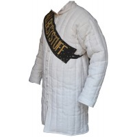 Medieval Linen Gambeson Padded Long Length 38 inches