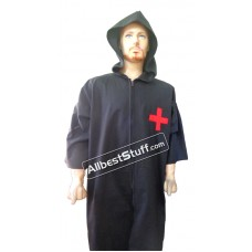 Medieval Tunic  Renaissance Comfortable Larp Shirt Costume with Hood