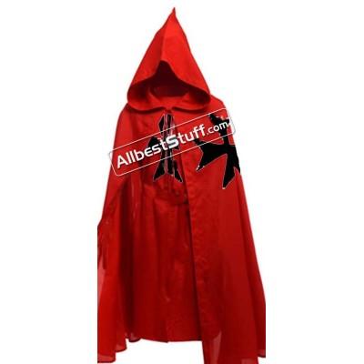 Medieval Warrior LARP Cosplay Costume Templar Knights Tunic CAPE Cross Cloak