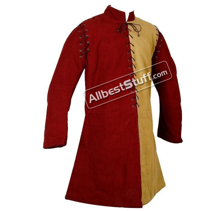 Medieval Thick Padded Gambeson Stitched Sleeves