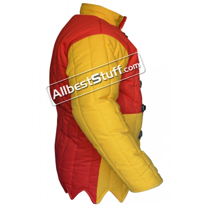 Multi Colored Medieval Thick Padded Gambeson