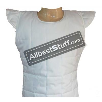 Sleeveless Cotton Padded Tunic Black OR White