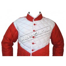 Thick Padded Gambeson Red with White