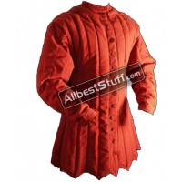 Thick Padded Zig Zag design Gambeson Red OR Black