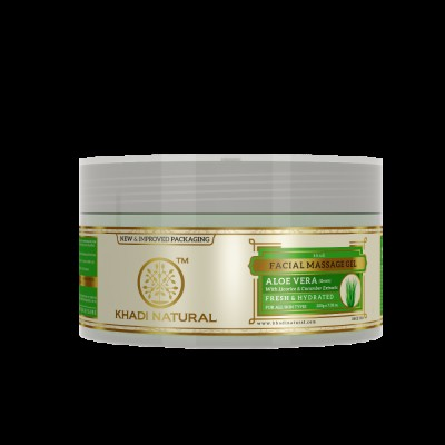 Khadi Natural Aloe Vera Facial Massage Gel 200 gm Licorice Cucumber Extract Face