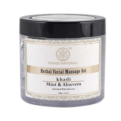Khadi Natural Mint Aloevera Face Massage Gel 100gm Ayurvedic Skin Face Body Care