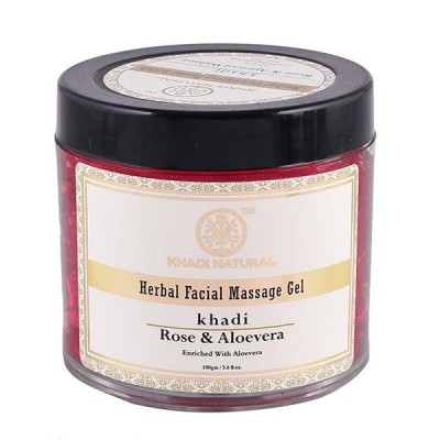 Khadi Natural Rose & Aloevera Facial Massage Gel 100 gm Ayurvedic Skin Face Care