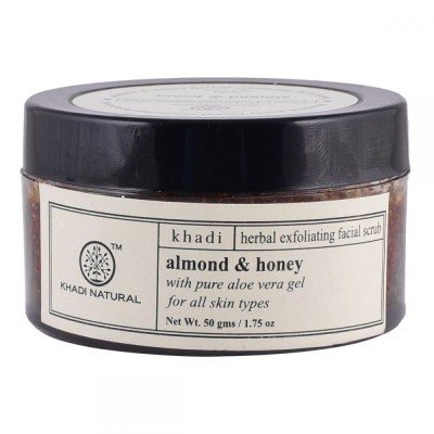 Khadi Natural Almond & Honey Facial Massage Gel With Scrub 50 gm Skin Face Care