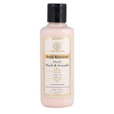Khadi Natural Peach Avacado Moisturizer Paraben Free 210 ml Ayurvedic Skin Face