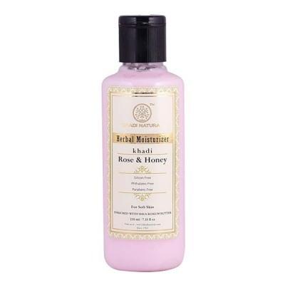 Khadi Natural Rose Honey Moisturizer 210 ml Sheabutter Ayurvedic Skin Face Body