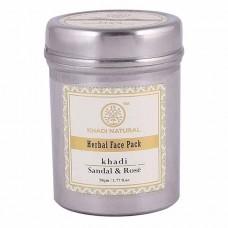 Lot of 2 Khadi Natural Sandal & Rose Face Pack 100 gm Ayurvedic Face Skin Care