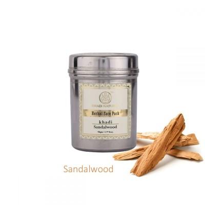 Lot of 2 Khadi Natural Sandalwood Face Pack 100 gm Ayurvedic Skin Face Body Care