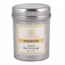 Lot of 2 Khadi Natural Rose & Orange Face Packs 100 gm Ayurvedic Face Body Care