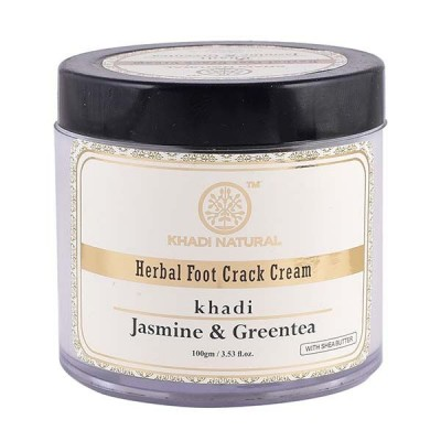 Khadi Natural Jasmine & Green Tea Herbal Foot Crack Cream 100 gm With Sheabutter