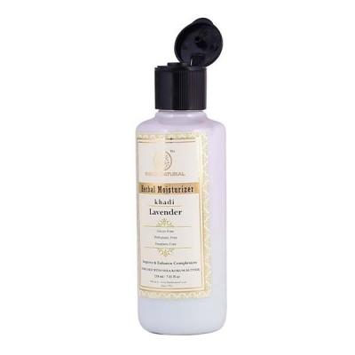 Khadi Natural Lavender Moisturizer 210 ml With Sheabutter Paraben Free Skin Care