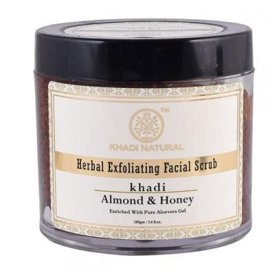 Khadi Natural Almond & Honey Exfoliating Facial Scrub 100 gm Ayurvedic Skin Care