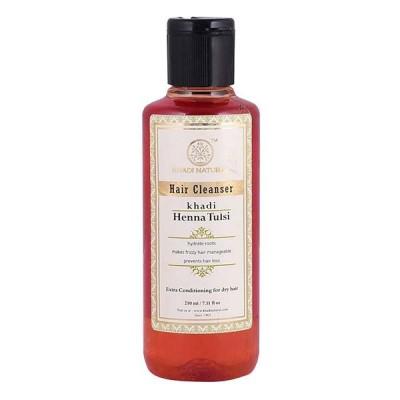 Khadi Natural Herbal Henna Tulsi Hair Cleanser 210ml Ayurvedic Hair Growth Care