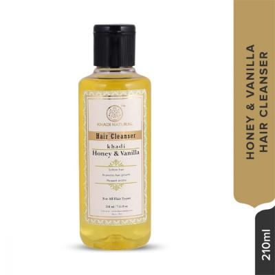 Khadi Natural Herbal Hair Cleanser Honey & Vanilla 210 ml Ayurvedic Hair Care
