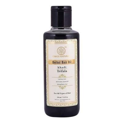 Khadi Natural Trifala Oil 210 ml Ayurvedic Hair Fall Growth Dandruff Skin Care