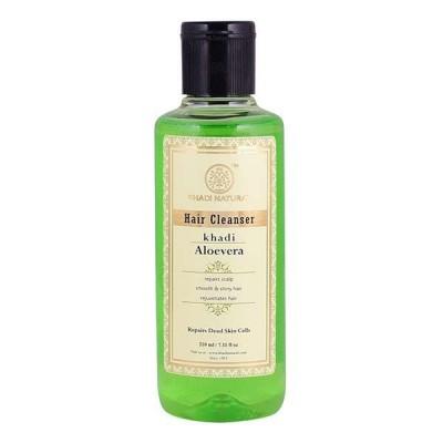 Khadi Natural Herbal Aloevera Hair Cleanser Ayurvedic Hair Growth Dandruff Care