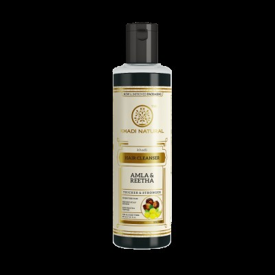 Khadi Natural Herbal Amla (Indian Gooseberry) & Reetha Hair Cleanser 210 ml Care