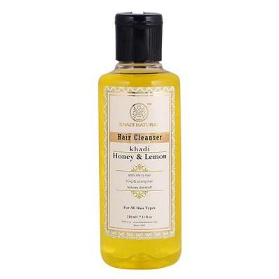 Khadi Natural Herbal Hair Cleanser With Honey & Lemon 210 ml Ayurvedic Hair Care