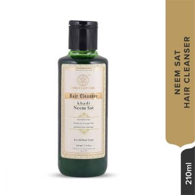 Khadi Natural Herbal Hair Cleanser Neem Sat Ayurvedic Hair Growth Dandruff Care