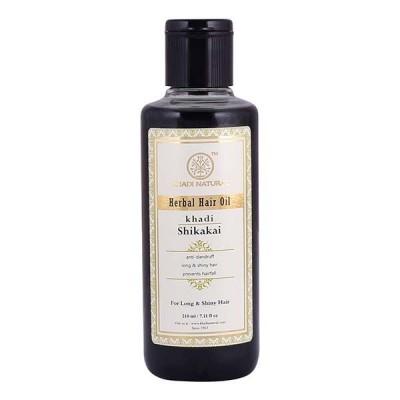 Khadi Natural Shikakai Hair Oil 210ml Ayurvedic Strong Long Growth Dandruff Care