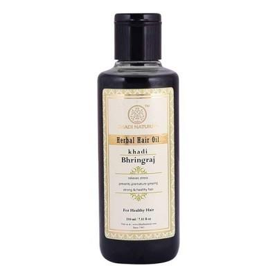 Khadi Natural Bhringraj Hair Oil 210 ml Ayurvedic Long Strong Dandruff Fall Care
