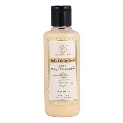 Khadi Natural Herbal Orange Lemongrass Hair Conditioner 210 Ayurvedic Hair Care