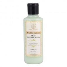 Khadi Natural Herbal Greentea & Aloevera Hair Conditioner 210 ml Ayurvedic Care