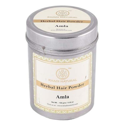 Khadi Natural Organic Amla (Indian Gooseberry) Powder 150 gm Ayurvedic Hair Care