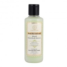 Khadi Natural Herbal Green Tea Aloevera Hair Conditioner SLS Paraben Free 210 ml