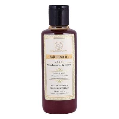 Khadi Natural Woody Sandal & Honey Hair Cleanser SLS & Paraben Free 210 ml Care