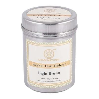 Khadi Natural Herbal Hair Color Light Brown 150gm Ayurvedic Herbal Hair Dye care
