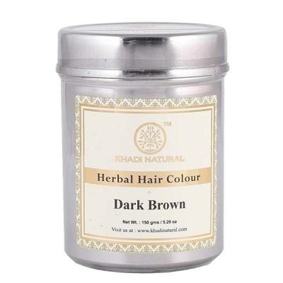 Khadi Natural Herbal Hair Color Dark Brown 150 gm Ayurvedic Dye Hair Herbal Care