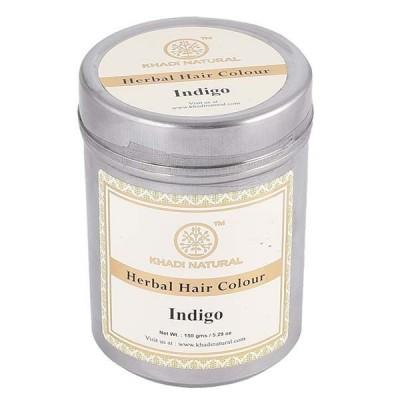 Khadi Natural Herbal Hair Color Indigo 150 gm Ayurvedic Grey hair baldness care