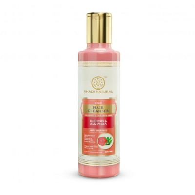 Khadi Natural Hibiscus & Aloevera Hair Cleanser Sulphate & Paraben Free 210 ml