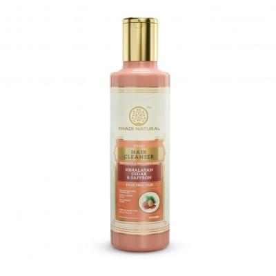 Khadi Natural Himalyan Cedar & Saffron Hair Cleanser Sulphate Paraben Free 210ml