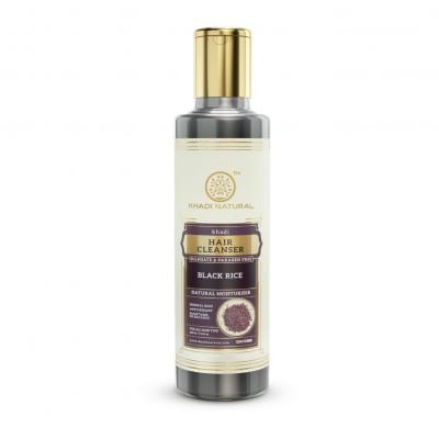 Khadi Natural Black Rice Hair Cleanser Sulphate & Paraben Free Ayurvedic 210 ml