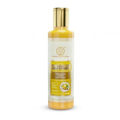 Khadi Natural Triphala with Olive Oil Hair Cleanser Sulphate Paraben Free 210 ml