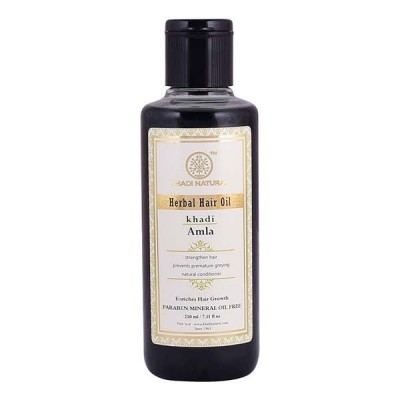 Khadi Natural Pure Amla or Indian Gooseberry Hair Oil 210 ml Long Strong Hair